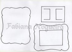 Assista o Passo a Passo do Porta Retrato de EVA: Molde para impressão: