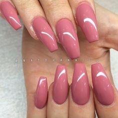 Simplicity is beauty, they said. This pinky pink… Pinky pink Glossy Coffin Nails. Simplicity is beauty, they said. This pinky pink glossy coffin nails is the best example of this saying. Colorful Nail Designs, Acrylic Nail Designs, Nail Art Designs, Nails Design, Cute Acrylic Nails, Cute Nails, Pretty Nails, Acrylic Nails For Summer Coffin, Pink Acrylics