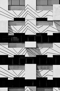 Black and white facade. There are amazing architecture projects around the world. Here you can see every type of project, since buildings, to bridges or even other physical structures. Enjoy and see more at www.homedesignideas.eu