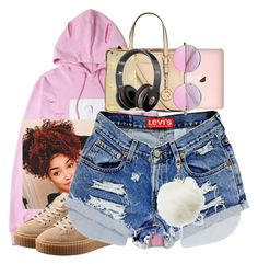 """""""Pink cotton candy"""" by aleafm0ffical ❤ liked on Polyvore featuring Puma, Michael Kors, Charlotte Russe and Beats by Dr. Dre"""