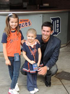 Rick Porcello takes a photo with some special fans during the 4th Annual Keeping Kids in the Game event.