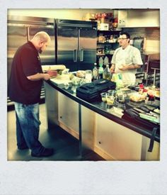 Chef Mat Clouser and right-hand man Chef Zack Northcutt, in the Swift's Attic kitchen