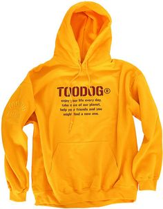 Felpa - Sweatshirt - Toodog Motto   ricamo nella spalla
