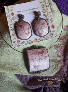 Indrani Handmade Polymer Clay Jewelry, Pendant Necklace, Handmade, Fimo, Hand Made, Drop Necklace, Handarbeit