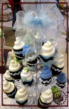 diaper cupcake tutorial