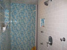 Crystal Cloud Blend - View similar glass bathroom tiles at http://www.glasstilestore.com