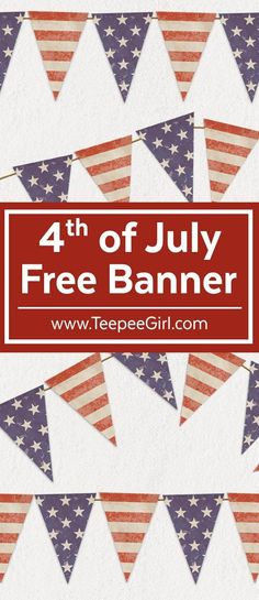 Flag Banners, Bunting Banner, Banner Letters, July Crafts, Holiday Crafts, Patriotic Crafts, Patriotic Party, Independance Day, Free Banner