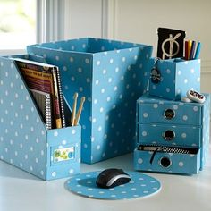 Desk Accessories For Women Blue