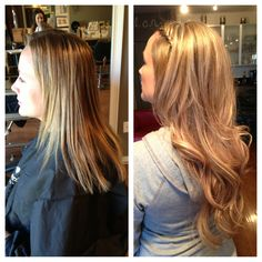 Gorgeous Multi Blonde Highlighlight and Full Extensions By Stylist Leah Villagran
