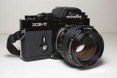 The legendary Minolta XE-7 and the Minolta MC Rokkor 58mm f/1.2 lens. (Local Score by Trey_V, via Flickr)