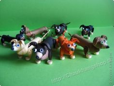 cute little weiner dogs - quilled