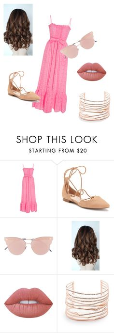 """""""Cute Pink"""" by g25h ❤ liked on Polyvore featuring Whit, Jennifer Lopez, So.Ya, Lime Crime and Alexis Bittar"""