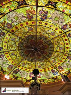 Gaylord Opryland Hotel stained glass dome over the concierge desk