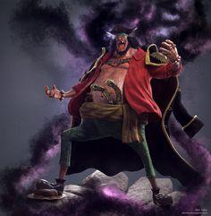 Black Beard One Piece Fan Art , Alan Sales on ArtStation at https://www.artstation.com/artwork/L3v5