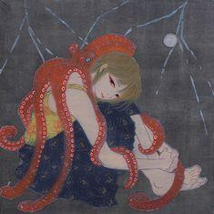 Octopus hug. By Mao Nakada. [via beautiful/decay]