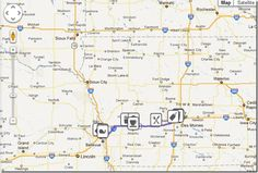On the way app- gives you cool places for you to stop at to make your road trip that much better.