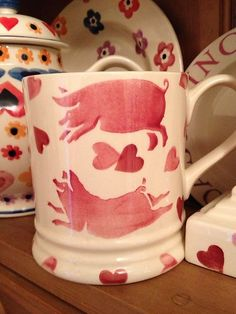 Emma Bridgewater 1 Pint Flying Pigs Mug