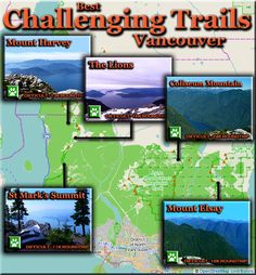 Vancouver Hiking - Best Challenging Trails Map