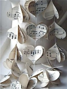 music heart garland etsy $16 by allyson
