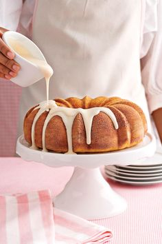 Buttermilk Breakfast Cake - Our Best-Ever Bundt Cake Recipes - Southernliving. Recipe: Buttermilk Breakfast Cake  Your guests will love this not-too-sweet Bundt cake, perfect for a breakfast or brunch. The silky tang of buttermilk, partnered with cinnamon and the convenience of a boxed mix, makes this a delicious go-to recipe for holidays or just lazy Sunday mornings.