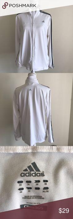 ADIDAS JACKET NWOT White clima365 ~ zip pockets & zip front Adidas Jackets & Coats