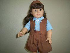 18 American Girl Doll Girl Scout Brownie Uniform by JustNeedles, $25.00