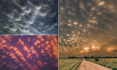 Bubble wrap in the sky? No, these amazing shapes are mammatus clouds