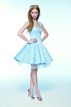 Limited edition Cinderella fashion collection. Exclusively at Hot Topic. This beautiful sky blue dress displays perfect elegance and will make everyone's eyes turn to you at the ball! There is no way that any Prince could resist you in this!