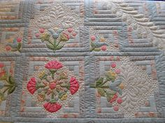 Such detail, Love it. Pieced by Valley Quiltmakers Guild  Quilted by Jessica's Quilting Studio