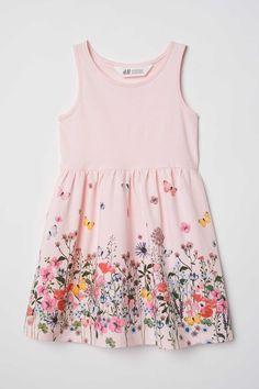 H&M Sleeveless Jersey Dress - Light pink/flowers - Kids Little Girl Summer Dresses, Little Girl Dresses, Girls Dresses, The Dress, Baby Dress, Kids Outfits, Summer Outfits, Summer Clothes, Light Pink Flowers