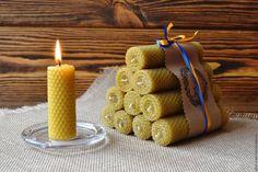 Купить Домашний огонь - набор свечей из вощины. Восковые свечи - свеча из вощины, восковая свеча Beeswax Candles, Diy Candles, Candle Wax, Tart Warmer, Candels, Butterfly Wallpaper, Candle Making, Candlesticks, Napkin Rings