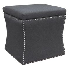 Accent Furniture Nailhead Storage Ottoman - Gray two of these instead of coffee table you can store blankets books etc Living Room Bench, New Living Room, Living Room Furniture, Find Furniture, Accent Furniture, Home Furniture, Bedroom Ottoman, Ottoman Bench, Swivel Club Chairs