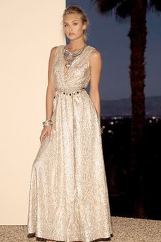 All that Shimmers is Gold Light Gold Maxi Dress at Lulus.com!