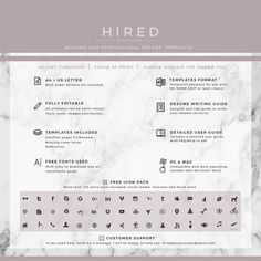 Resume Microsoft Template Letal Resume Template For Word Madison  100% Editable Instant .