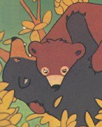 Bouba attaque l'ours qui terrorisait les bergers.