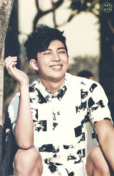 BTS Rap Monster • Kim Namjoon // Look at that smile :3