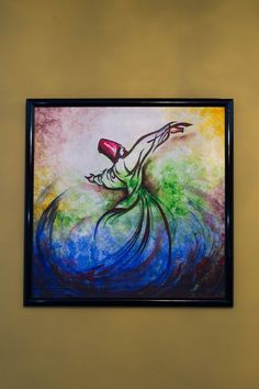 Rumi Whirling Dervish Sufi Original Canvas Art by PersianPicasso Islamic Art Pattern, Pattern Art, Dance Paintings, Oil Paintings, Arabic Calligraphy Art, Arabic Art, Whirling Dervish, Paper Flower Art, Painting Collage