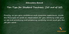 Student teacher tips (tip 10)