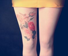 Colorful Roses  Milky Tattoo Tights  Free Shipping by kellyatlarge, $26.00