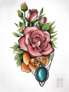 Rose Flower Tattoos, Flower Tattoo Designs, Flower Designs, Body Art Tattoos, Tattoo Drawings, Sleeve Tattoos, Mosaic Tattoo, Black Pen Sketches, Rose Reference