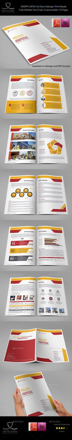 Business Proposal Template InDesign INDD #design Download http - construction work proposal template