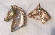 RARE LOT OF CROWN TRIFARI HORSE BROOCHES, STERLING JELLY BELLY & ALFRED PHILIPPE #Trifari