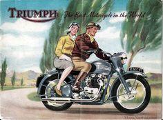 Vintage Triumph Motorcycle Ads - The Bullitt Bsa Motorcycle, Motorcycle Posters, Motorcycle Outfit, Motorcycle Accessories, Car Accessories, Buy Classic Cars, Classic Bikes, Triumph Motorcycles, Vintage Motorcycles