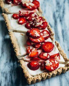 strawberry coconut tart (gluten-free + vegan) | brooklyn supper