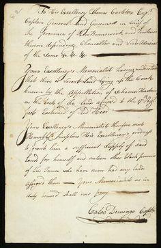 Black Loyalists in New Brunswick, 1783-1854: Petition of Catoe Demingo, 22 April 1785, Red Head