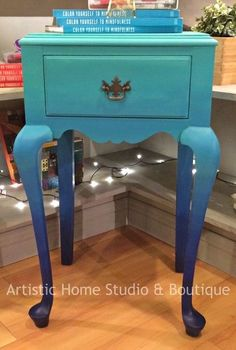 Blue Ombre table - How to get this look with General Finishes Milk Paint.