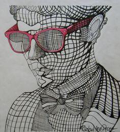 Cross Contour Drawing | Darren Criss: Cross Contour by ~paranoid-melodies on deviantART