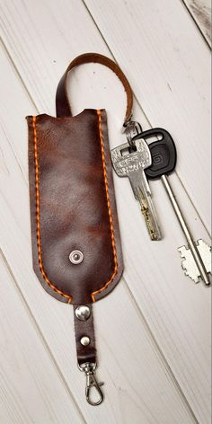 Anniversary Gift Ideas For Him Boyfriend, One Year Anniversary Gifts, Leather Key Holder, Leather Pouch, Perfect Gift For Her, Gifts For Her, Minimalist Leather Wallet, Natural Leather, Brown Leather