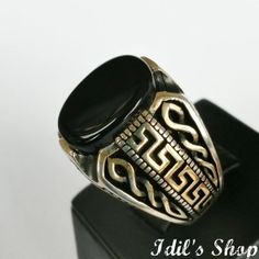 Authentic Turkish Ottoman Style Handmade 925 Sterling Silver Ring by Idil's Shop, $80.00