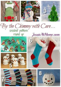 Get ready for Christmas with these free #crochet stocking patterns rounded up by @jessieathome